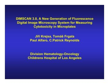 DIMSCAN 3.0, A New Generation of Fluorescence Digital Image ...
