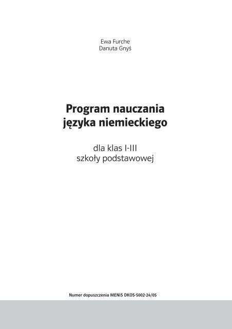 Program Nauczania Ja Klarcdr Lektorklett
