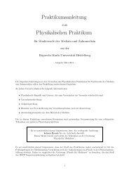 Praktikumsanleitung Physikalischen Praktikum - Ruprecht-Karls ...