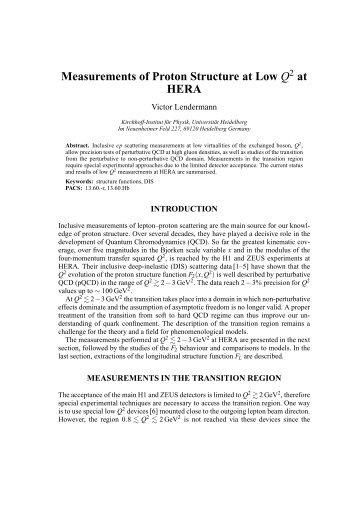 Proceedings - Kirchhoff-Institut für Physik