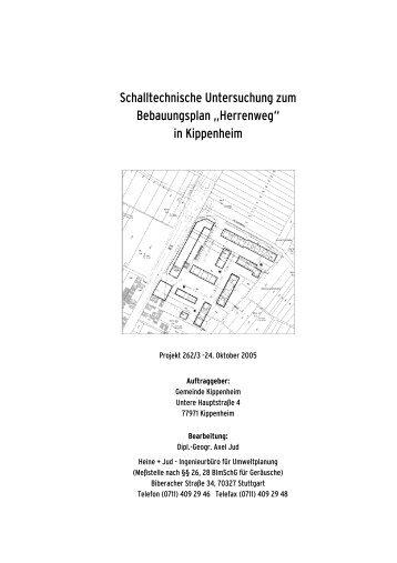 Schalltechnische Untersuchung zum Bebauungsplan ... - Kippenheim
