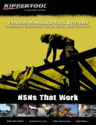 Vendor Managed Tool Systems Engineer Standard Sets, Kits, And