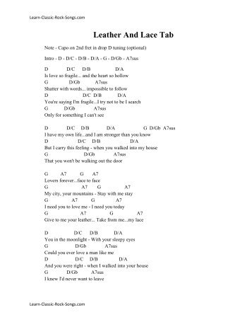 father and son tab pdf
