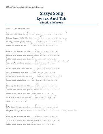 Lyrics for sissys song