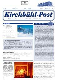 Kirchbühl-Post - Hotel Kirchbühl Grindelwald