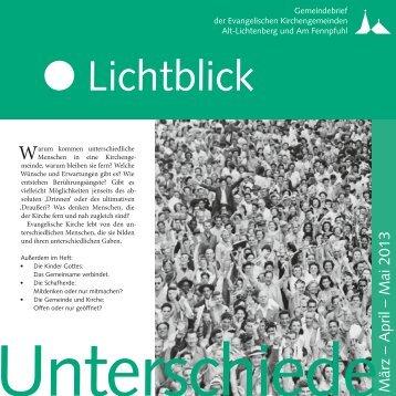 März bis Mai 2013 - Evangelische Kirchengemeinde Alt-Lichtenberg