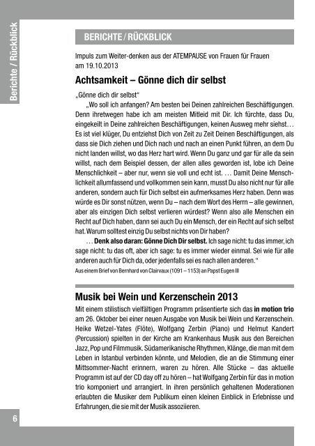 November + Dezember 2013 + Januar 2014 - Kirche am ...