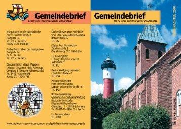 Gemeindebrief Weihnachten 2010 - Web.indd - Ev. Kirche am Meer ...