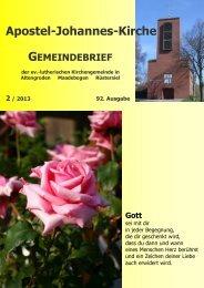 Ausgabe 92 - 02.2013 (ca. 5 MB) - Kirche am Meer