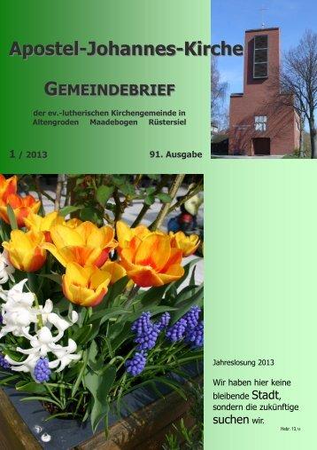 Ausgabe 91 - Ev.-luth. Kirchengemeinde Altengroden