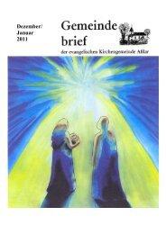Gemeindebrief Dezember/Januar 2011 - Evangelische Kirche Asslar
