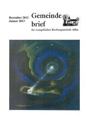 Gemeindebrief Dezember 2012/Janauar 2013 - Evangelische ...