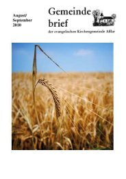 Gemeindebrief August/September 2010 - Evangelische Kirche Asslar