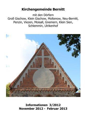 Gemeindeblatt 03/2012 (bis Februar 2013) - Kirchgemeinde Bernitt