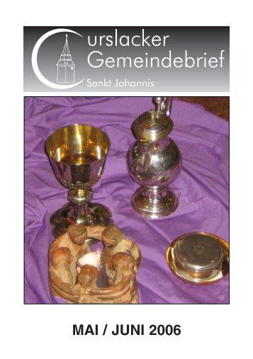 MAI / JUNI 2006 - St. Johannis zu Curslack
