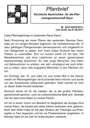 Kirchliche Nachrichten - Pastoraler Raum Daun