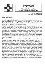 Pfarrbrief 26x - Pastoraler Raum Daun