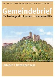 Gemeindebrief Oktober / November 2012 - Ev.-Luth. Kirchgemeinde ...