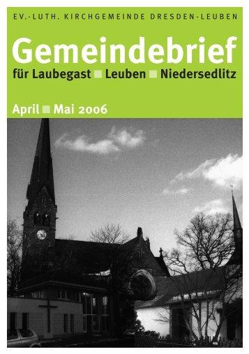 Gemeindebrief April/Mai 2006 - Ev.-Luth. Kirchgemeinde Dresden ...