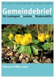 Gemeindebrief Februar/März 2007 - Ev.-Luth. Kirchgemeinde ...