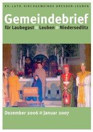 Gemeindebrief Dezember 2006 / Januar 2007 - Ev.-Luth ...