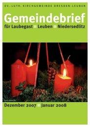 Gemeindebrief Dezember 2007/Januar 2008 - Ev.-Luth ...