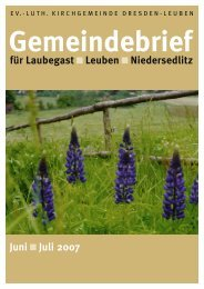 Gemeindebrief Juni/Juli 2007 - Ev.-Luth. Kirchgemeinde Dresden ...