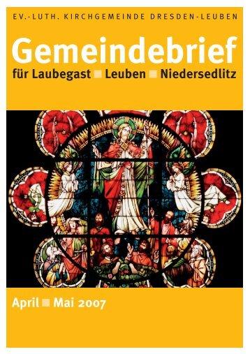 Gemeindebrief April/Mai 2007 - Ev.-Luth. Kirchgemeinde Dresden ...