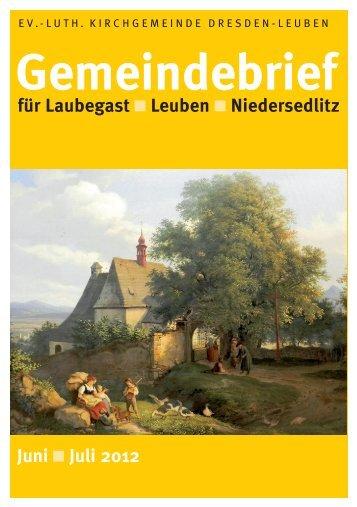 Gemeindebrief Juni / Juli 2012 - Ev.-Luth. Kirchgemeinde Dresden ...