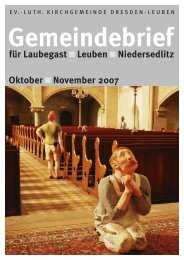 Gemeindebrief Oktober/November 2007 - Ev.-Luth. Kirchgemeinde ...