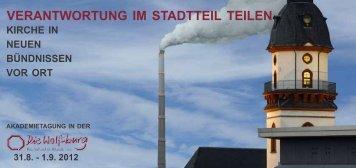 VERANTWORTUNG IM STADTTEIL TEILEN - Kirche findet Stadt