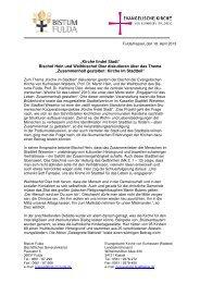 Gemeinsame Pressemitteilung von ... - Kirche findet Stadt