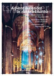 Adventskalender in der Marktkirche