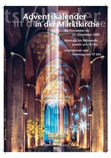 Adventskalender in der Marktkirche