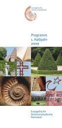 Programm 1. Halbjahr 2009 - Evangelisch-lutherischer ...