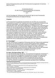 Entwurf Kirchenkreisordnung für den Pommerschen Evangelischen ...