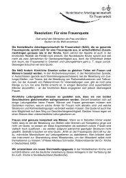 2011 Resolution für eine Frauenquote - Evangelische Kirche im ...