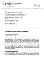 Brief der nordelbischen Kirchenleitung zum Beteiligungsverfahren