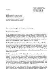 Entwurf einer Satzung für den Kirchenkreis Mecklenburg Liebe ...