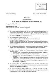 Beschluss der nordelbischen Landessynode zur Aufnahme von ...