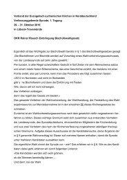Bischofswahlgesetz - Evangelische Kirche im Norden