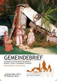 GemeinDebrieF - Kirchengemeinde Büchen-Pötrau