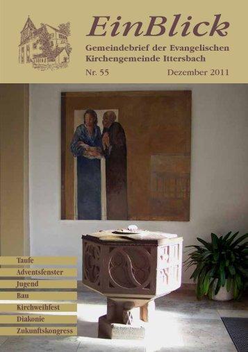 EinBlick Nr 53 - Evangelische Kirchengemeinde Ittersbach