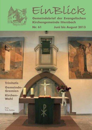 EinBlick Nr 56 - Evangelische Kirchengemeinde Ittersbach