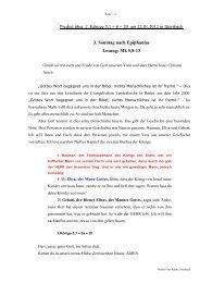 Predigt über 2. Könige 5 am 22.01.2012 - Evangelische ...