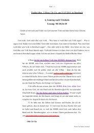 Predigt über 5. Mose 7 am 31.07.2011 - Evangelische ...