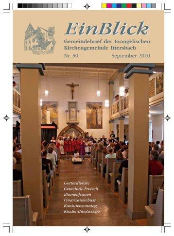 EinBlick - Evangelische Kirchengemeinde Ittersbach