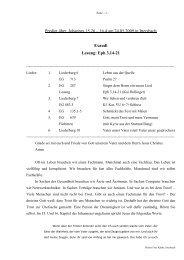 Predigt über Johannes 15 am 24.05.2009 (Exaudi)