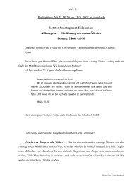 Predigt über Mt 28 am 13.10.2008 - Allianzgebet - Evangelische ...