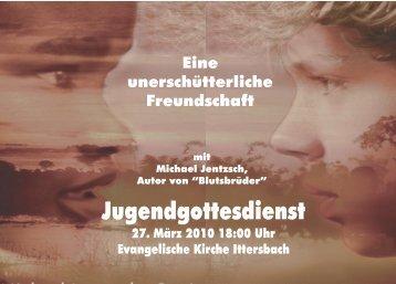 Blutsbrüder Flyer A6 - Evangelische Kirchengemeinde Ittersbach